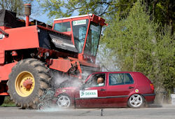 Combine Harvester Accident